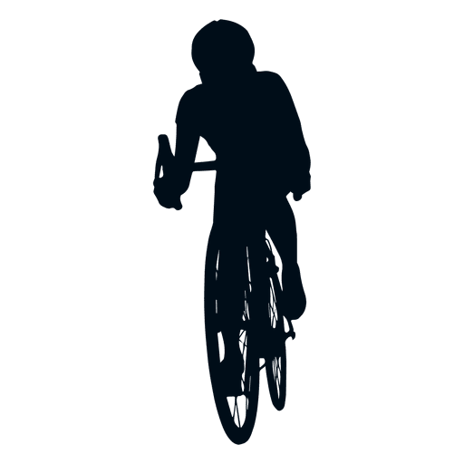 512x512 Man Cycling Silhouette