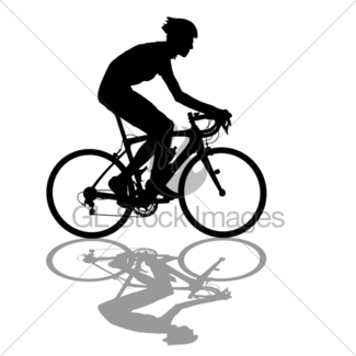 325x325 Silhouette Of A Cyclist Male On White Background Gl Stock Images