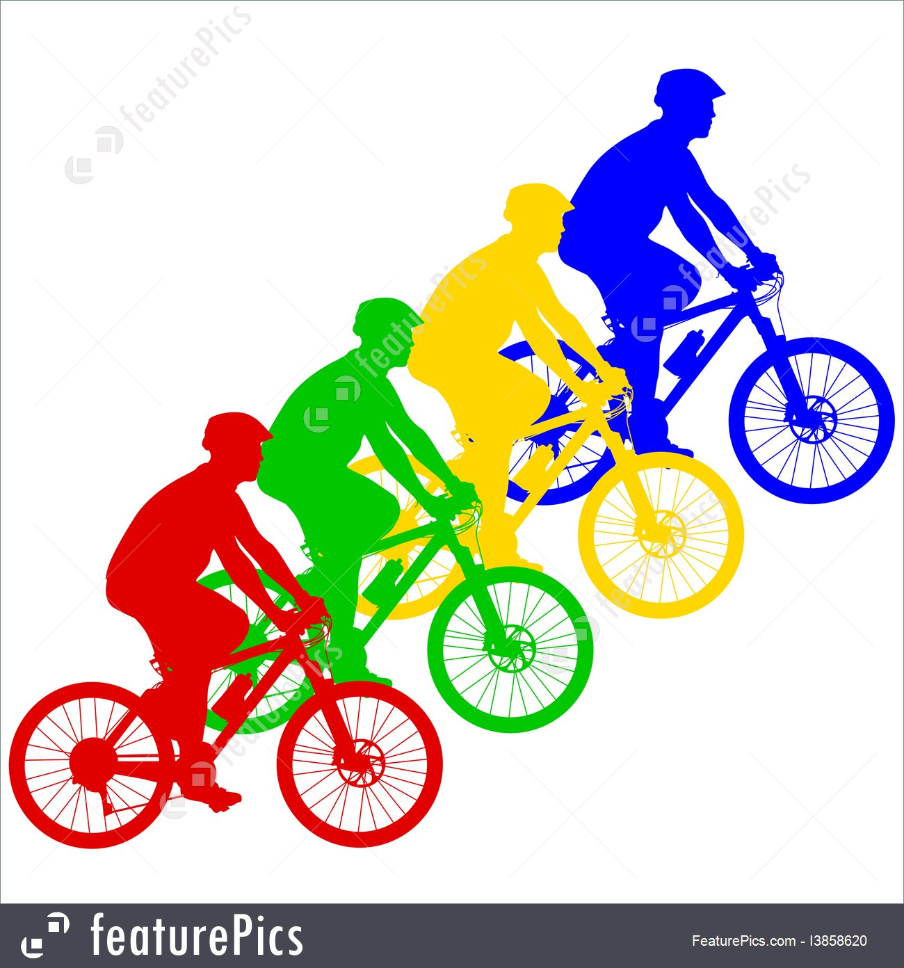 1300x1392 Silhouette Of A Cyclist Male Vector