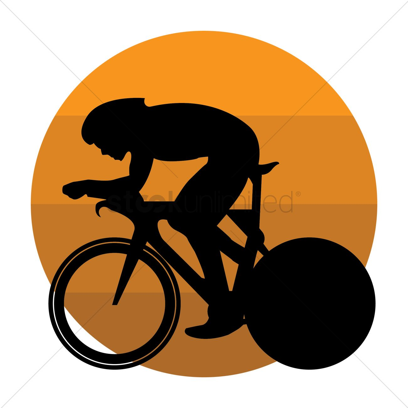 1300x1300 Silhouette Of A Cyclist Vector Image