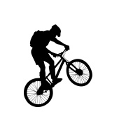 190x163 Bicyclist Silhouette, Vector Files