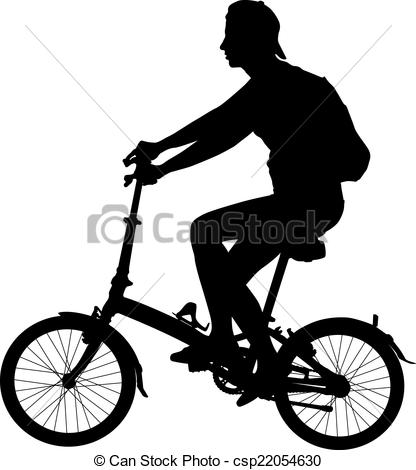 416x470 Silhouette Of A Cyclist Male. Vector Illustration. Vectors
