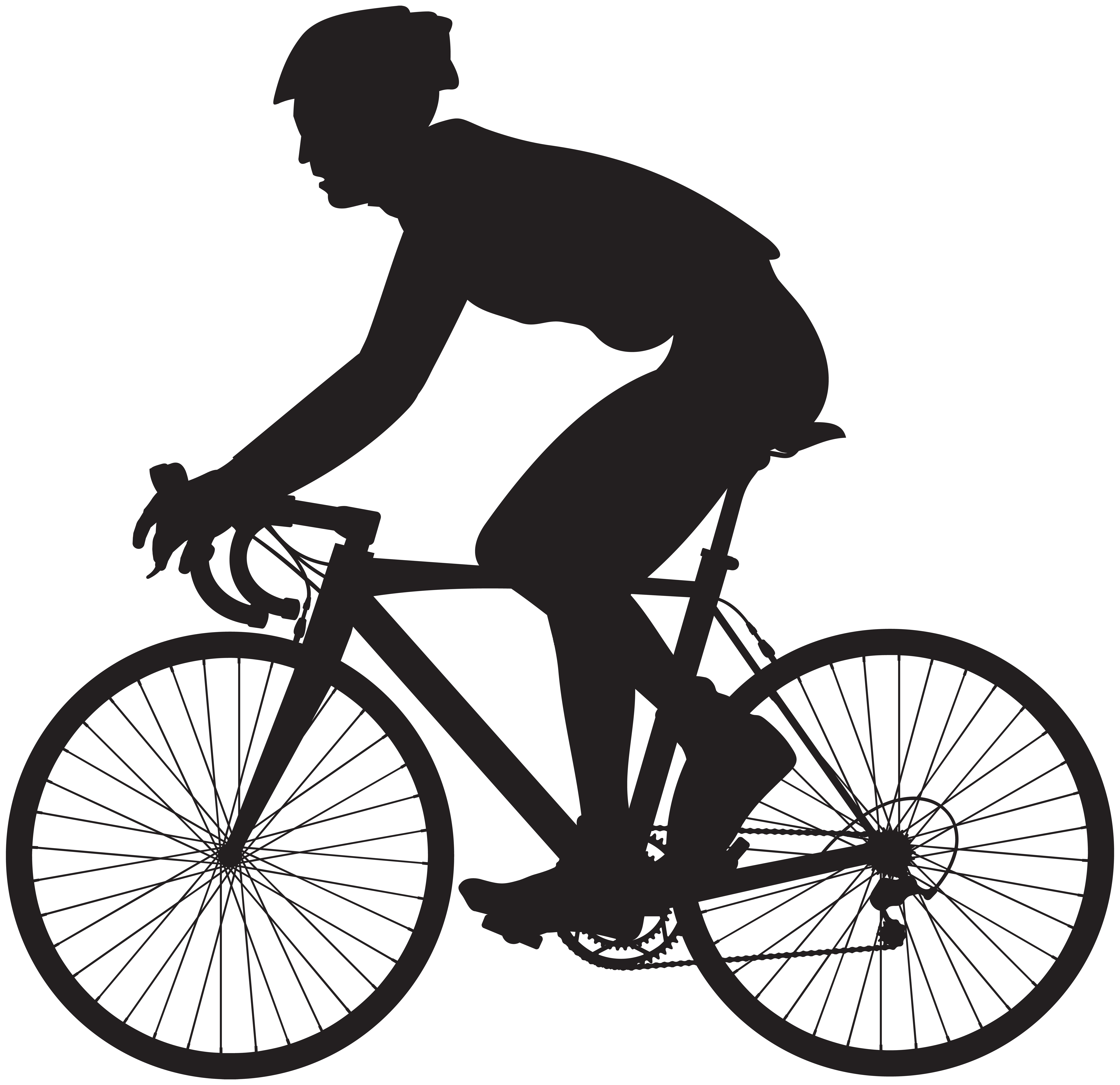8000x7750 Cyclist Silhouette Png Clip Art Imageu200b Gallery Yopriceville