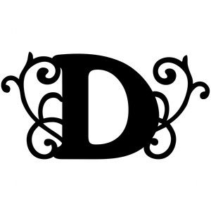 300x300 Flourish Monogram Cap D Silhouette Design, Flourish And Monograms