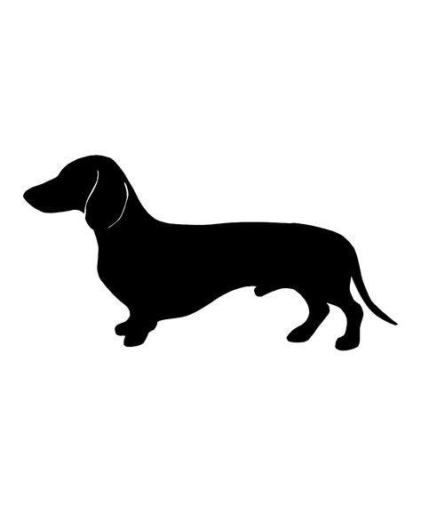 dachshund dog silhouette at getdrawings com free for personal use