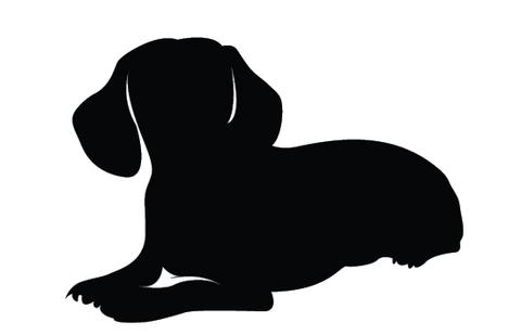 480x309 Dachshund Silhouette Vector Silhouettes Vector