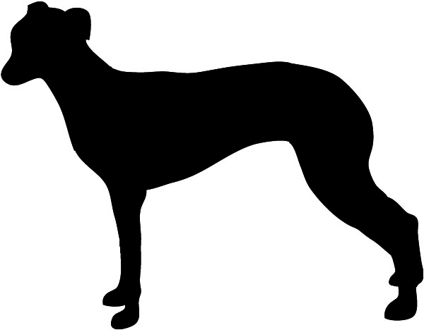 600x468 Dog Silhouette