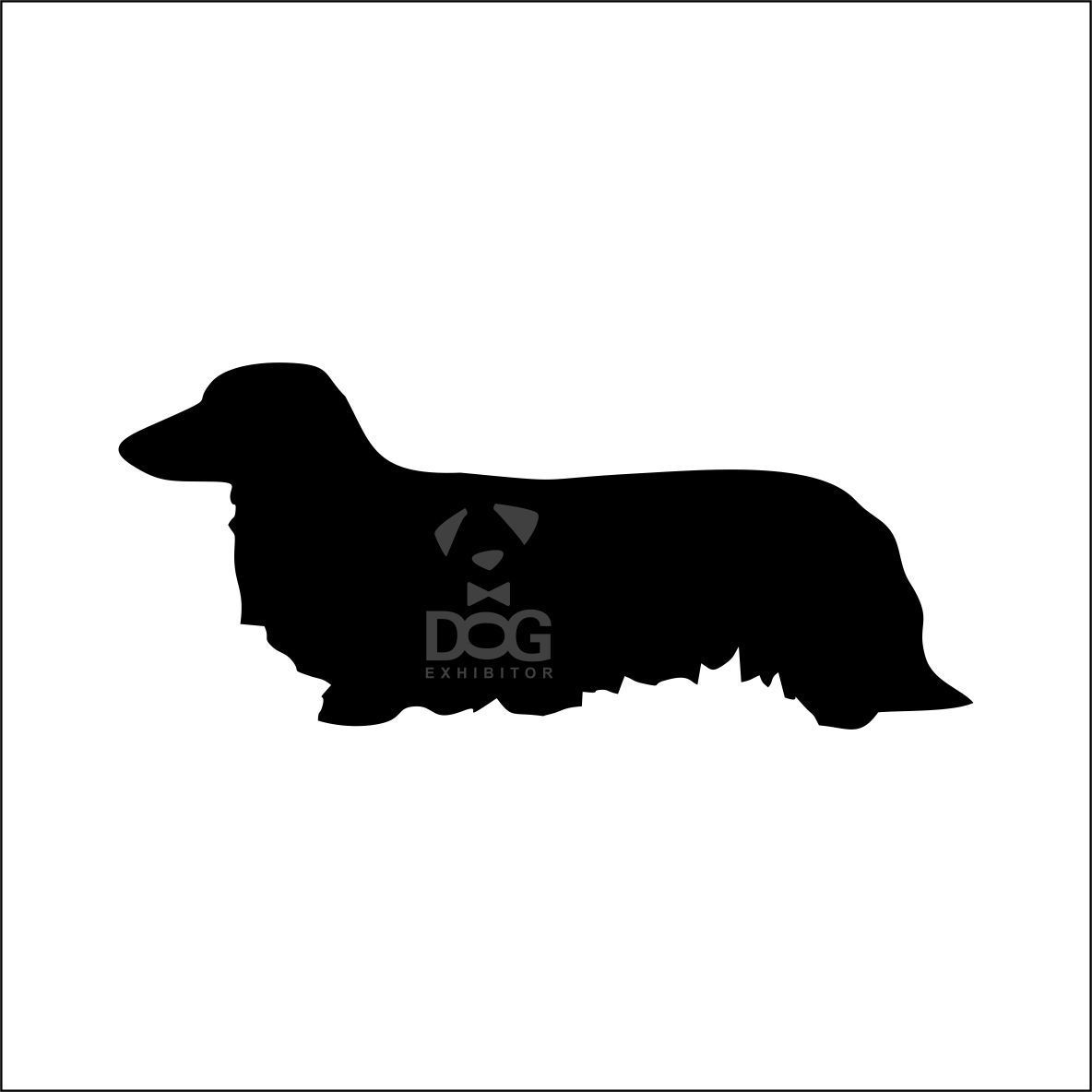 1184x1184 Long Haired Dachshund Silhouette Stickers