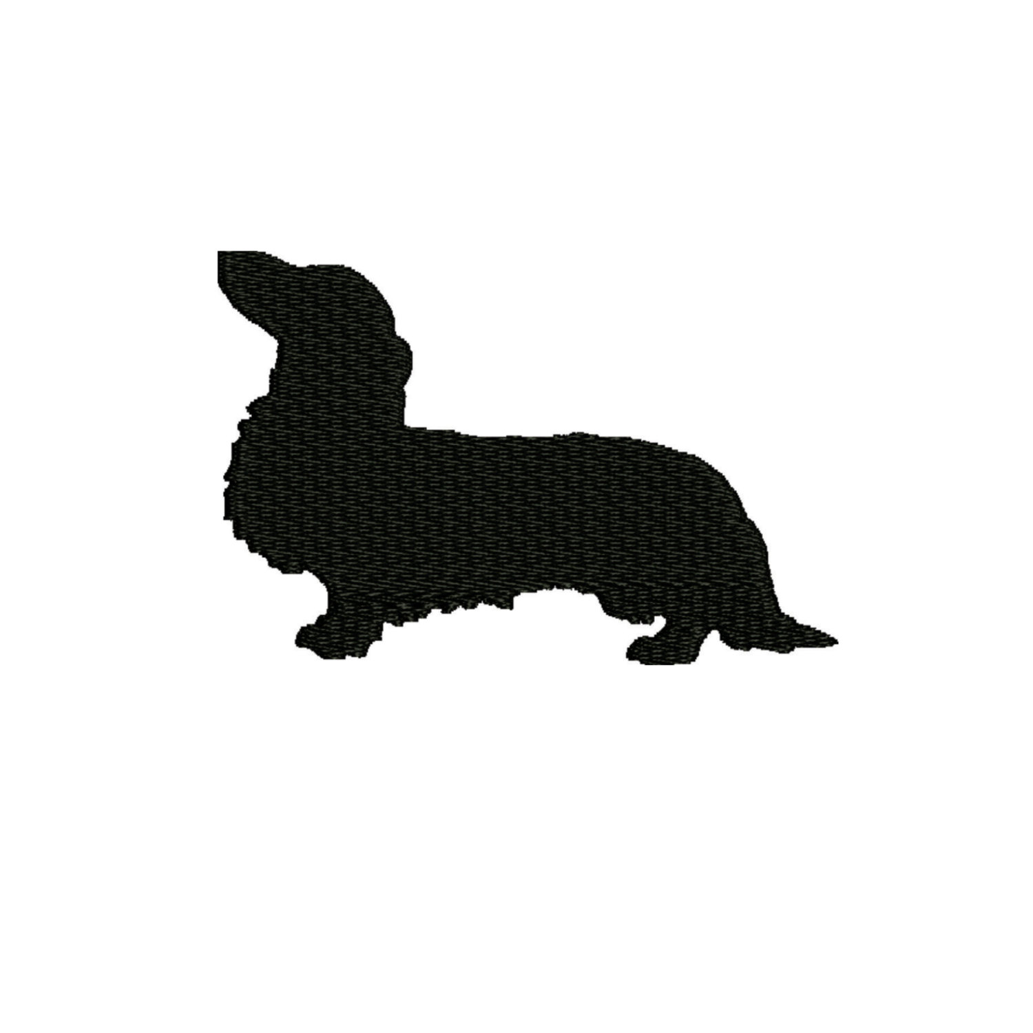 1500x1500 Dog Embroidery Design , Dachshund Silhouette 4 X4 And 5 X 7