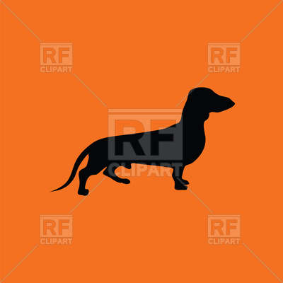 400x400 Dachshund Dog Icon Royalty Free Vector Clip Art Image