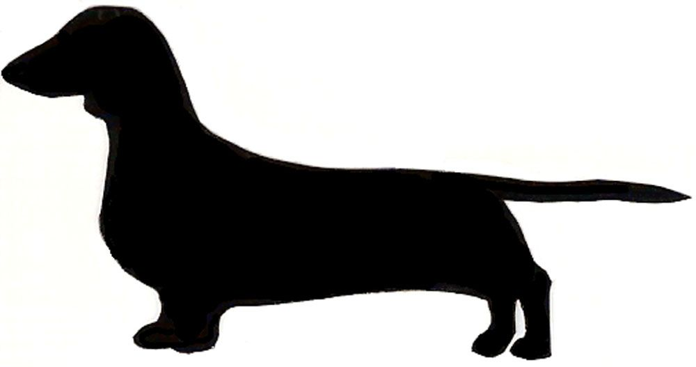 dachshund silhouette clip art free at getdrawings com free for rh getdrawings com  free weiner dog clipart