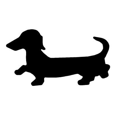 400x400 Dachshund Silhouette Decor Ideas Dachshunds