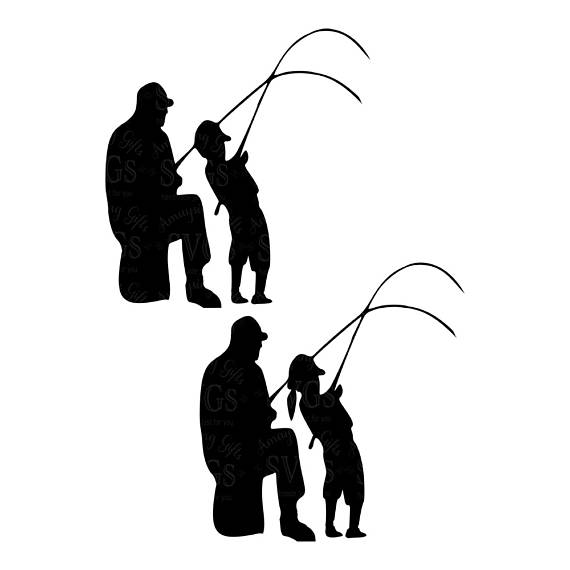 570x570 Fishing Buddies Svg Fathers Day Svg Dad And Daughter Fishing