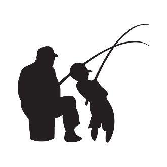 330x330 New Custom Screen Printed T Shirt Fishing Father Son Silhouette