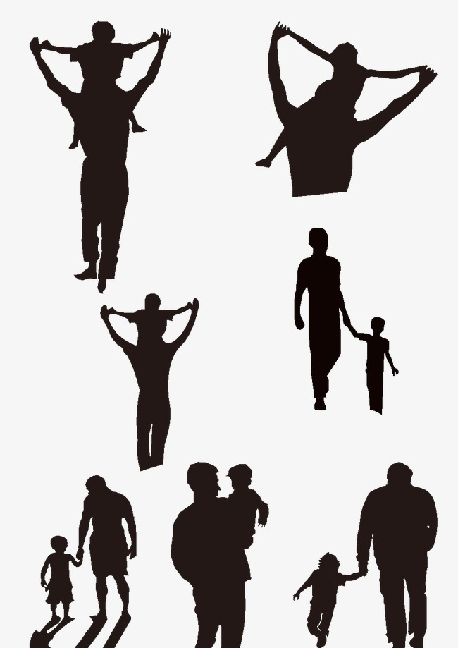 650x919 Silhouette Of Father And Son, Father And Son, Black, Fatherly Png