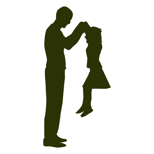 512x512 Father Picking Daughter Silhouette