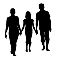 200x200 Person Persons Human Silhouette Silhouettes Relation Relations
