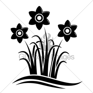 325x325 Daffodils In Basket Gl Stock Images