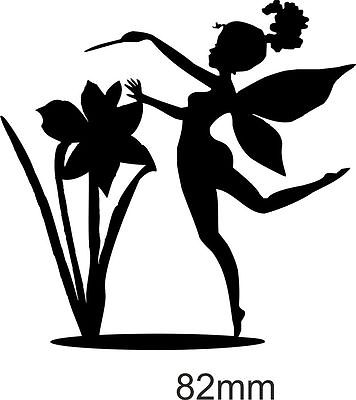 356x400 Die Cut Silhouette Daffodil Lil Fairy X (10, 8, 6) Cardmaking