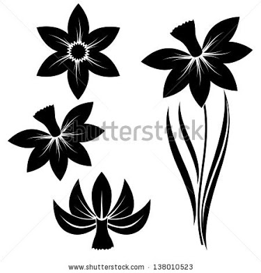 375x392 Daffodil Silhouette