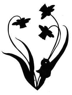 244x320 Daffodil And Baby Chick Silhouette Daffodils