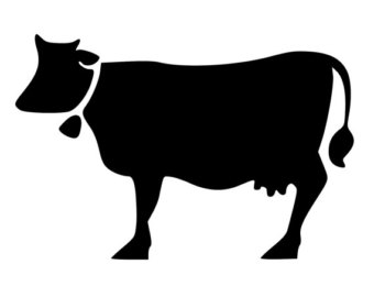 340x270 Cow Decal Etsy
