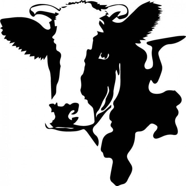 650x650 Dairy Cow Head Clipart