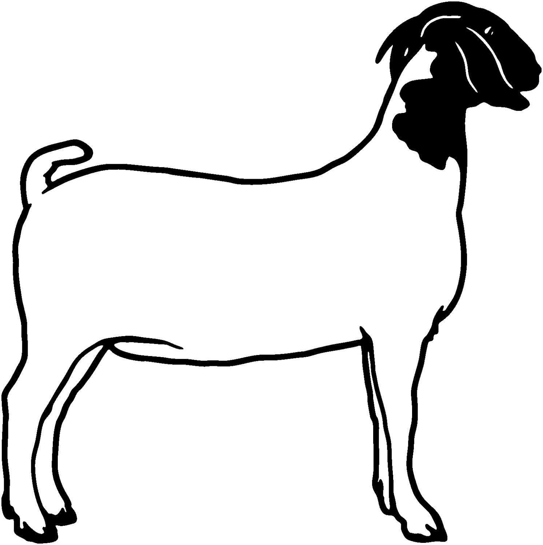 1493x1500 Goat Die Cut Decal Car Window Wall Bumper Phone Laptop Goats