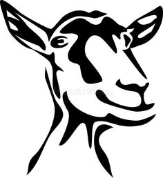 236x258 Dairy Goat Silhouette Vector