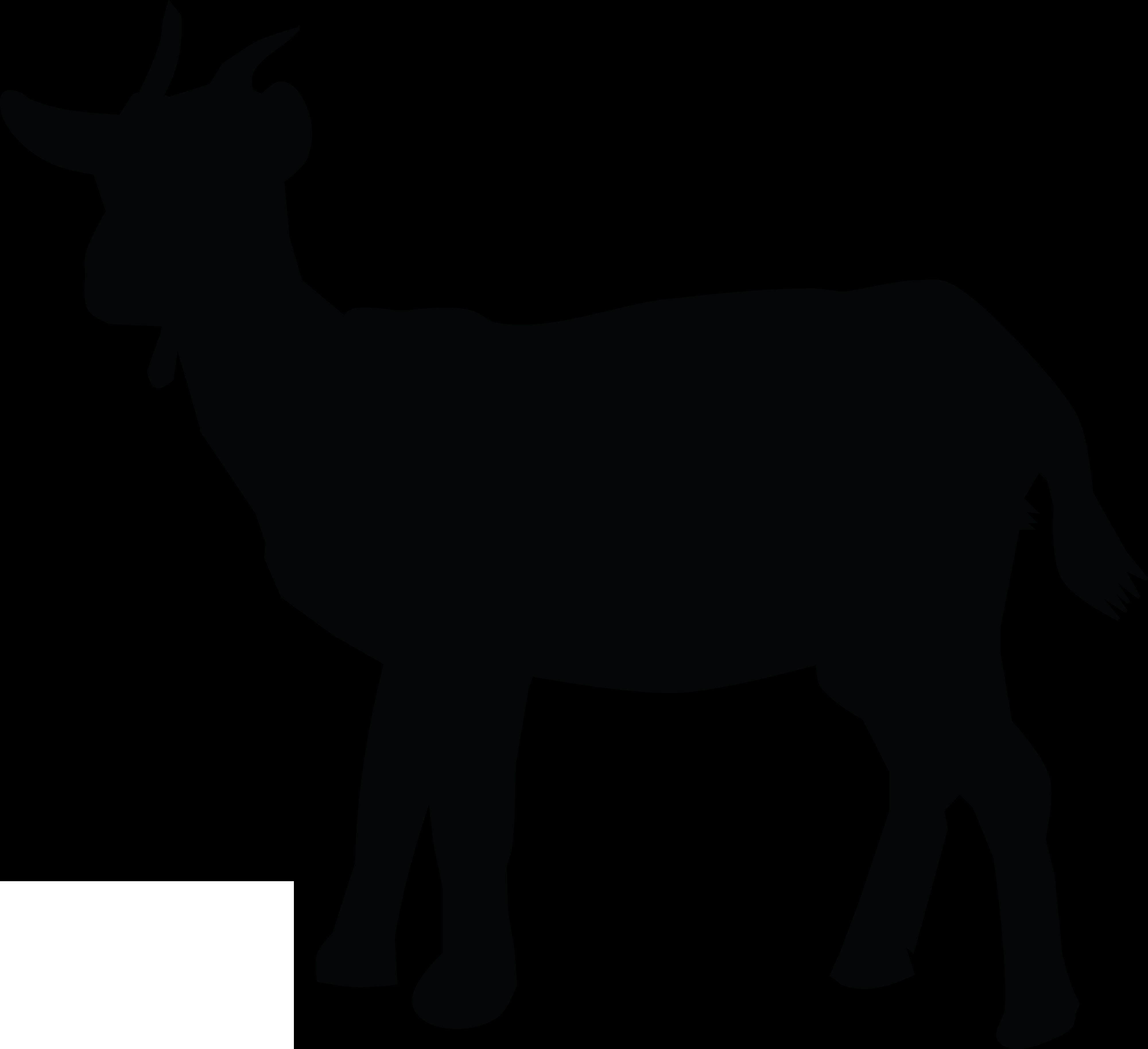 4000x3657 Black And White Goat Clipart