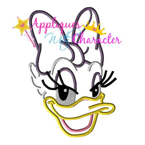500x500 Daisy Duck Applique Design By Appliques With Character