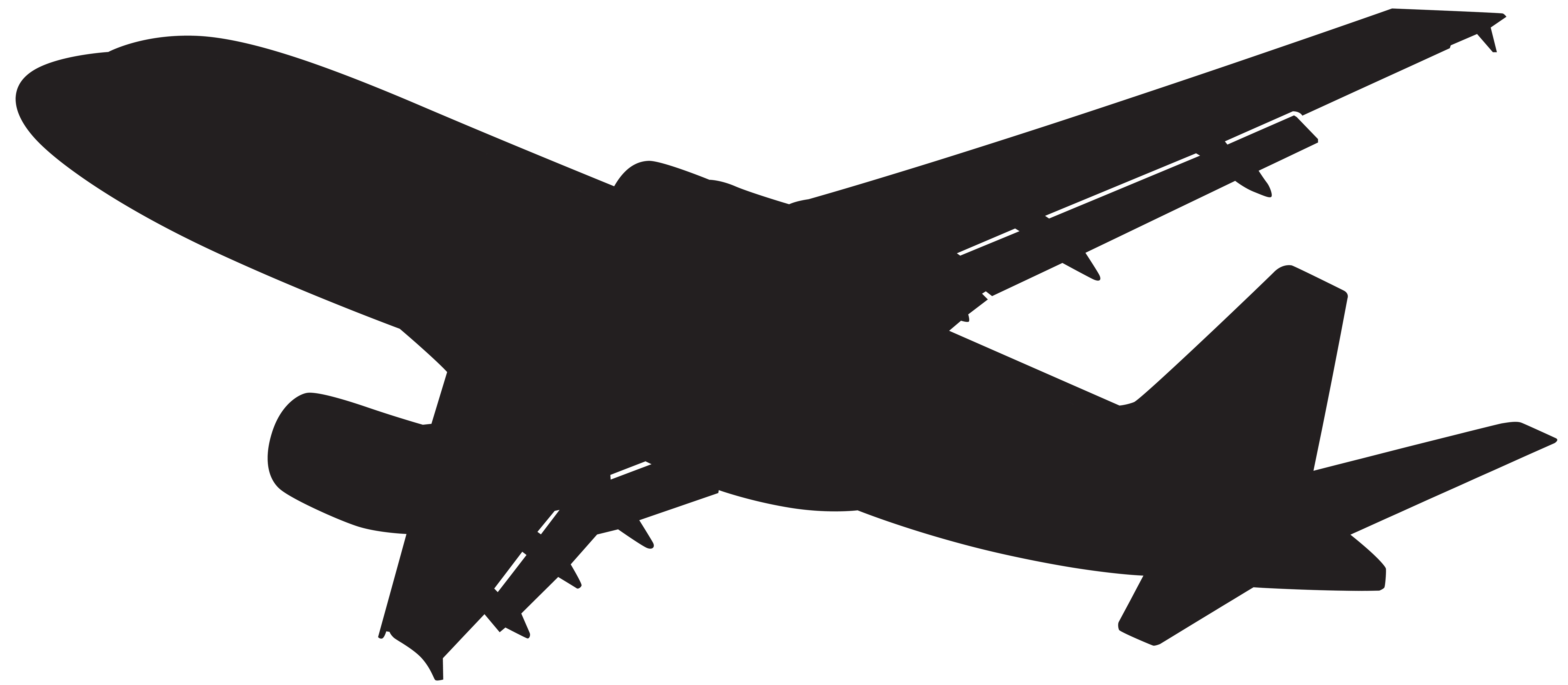 8000x3495 Airplane High Wing Plane Top View Clipart Collection