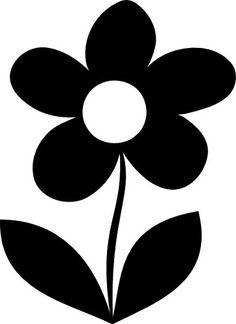Daisy Flower Silhouette