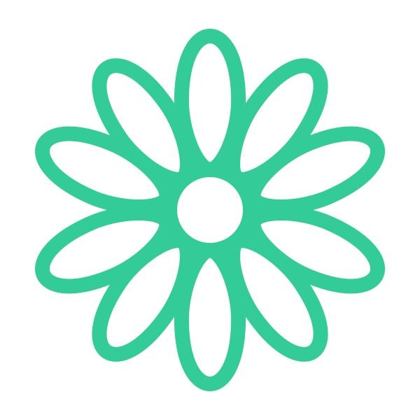 600x600 Daisy Flowers Cuttable Design Cut File. Vector, Clipart, Digital