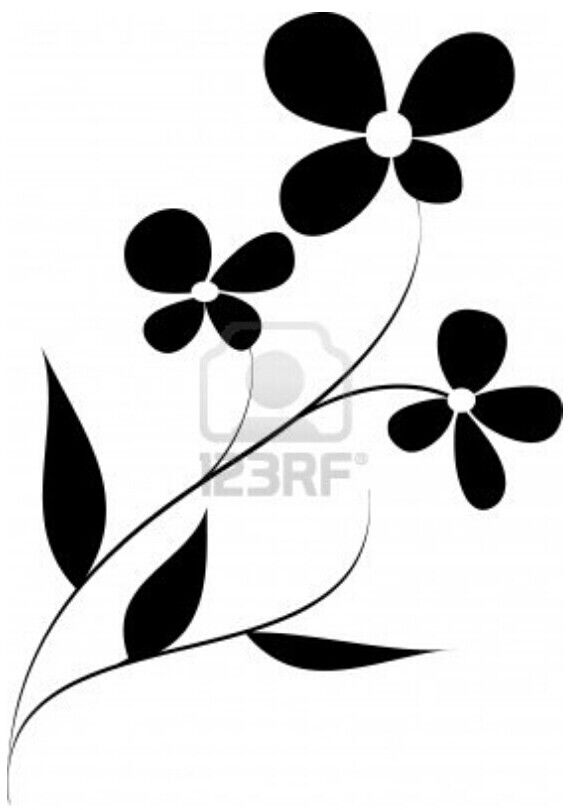 576x810 Easy Oopsy Daisy Flowers Template Stencil.