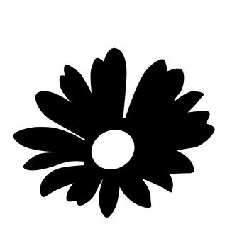 341x340 Free Silhouettes Flower, Up, Art