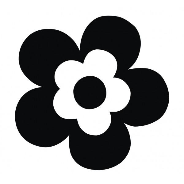 600x600 30 Daisy Flower Stickers