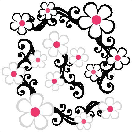432x432 Daisy Flower Flourishes Svg Scrapbook Cut File Cute Clipart Files