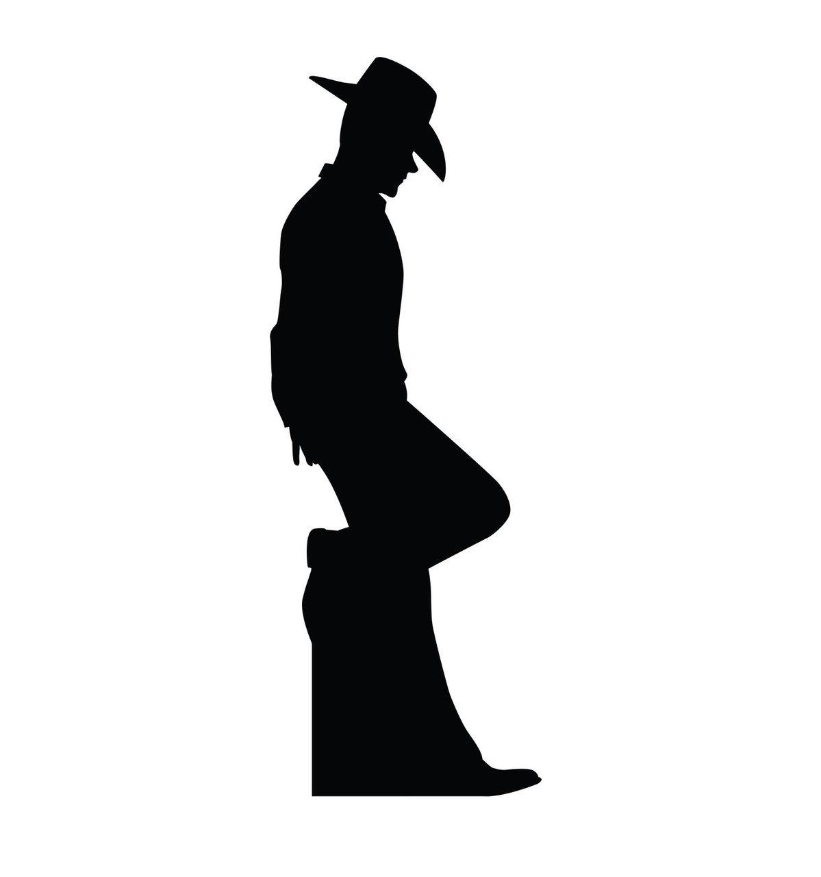 1199x1280 SU 2317 Cowboy Silhouette Cardboard Cutout Standup