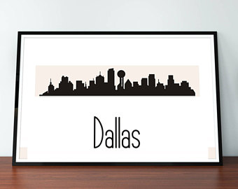 340x270 Dallas skyline art Etsy