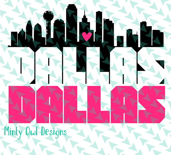 570x518 I Love Dallas Svg