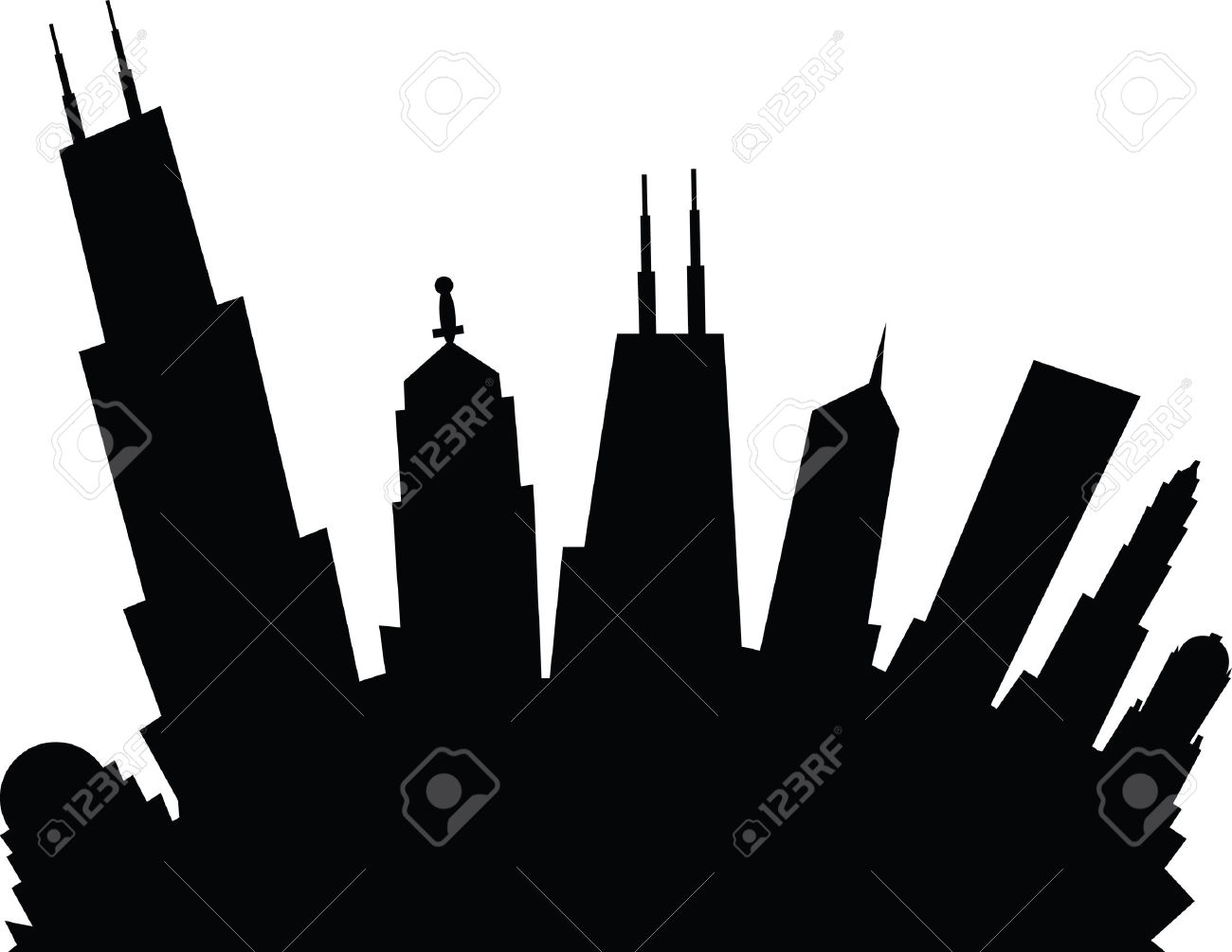 1300x1005 Skyline Clipart Animated