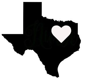 300x278 TEXAS HEART Vinyl Decal Sticker Car Window Wall LARGE TX Houston