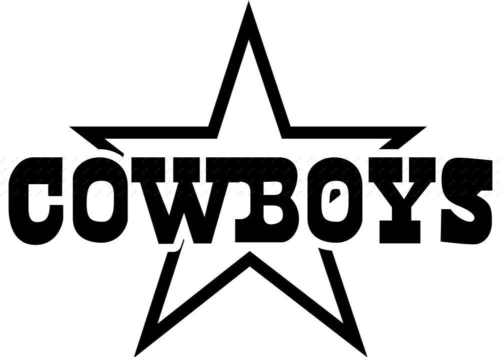 1000x715 Dallas Cowboys Black And White Logo Vinyl Nfl Dallas Cowboys