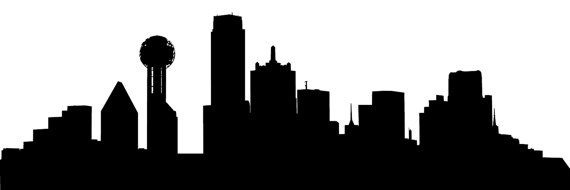 570x190 Dallas Skyline Window Topper Wall Decal By Wallnuggets On Etsy