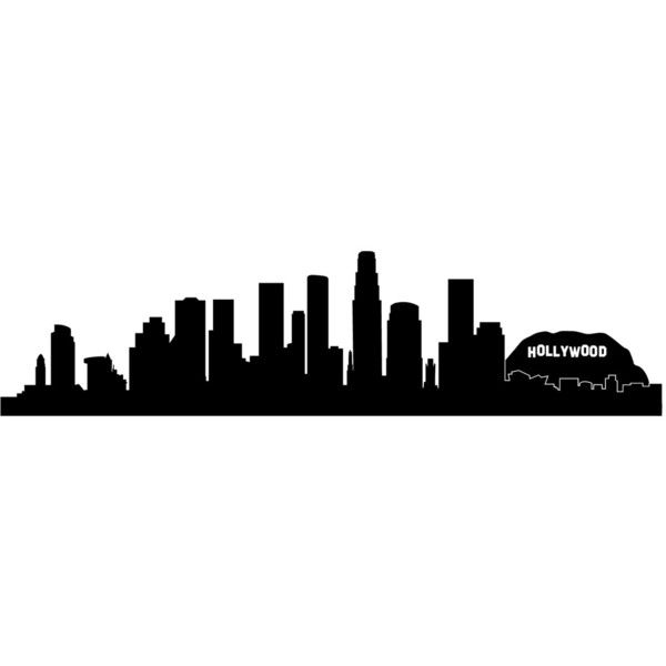 600x600 Los Angeles La Hollywood City Skyline Silhouette Wall Decal Custom