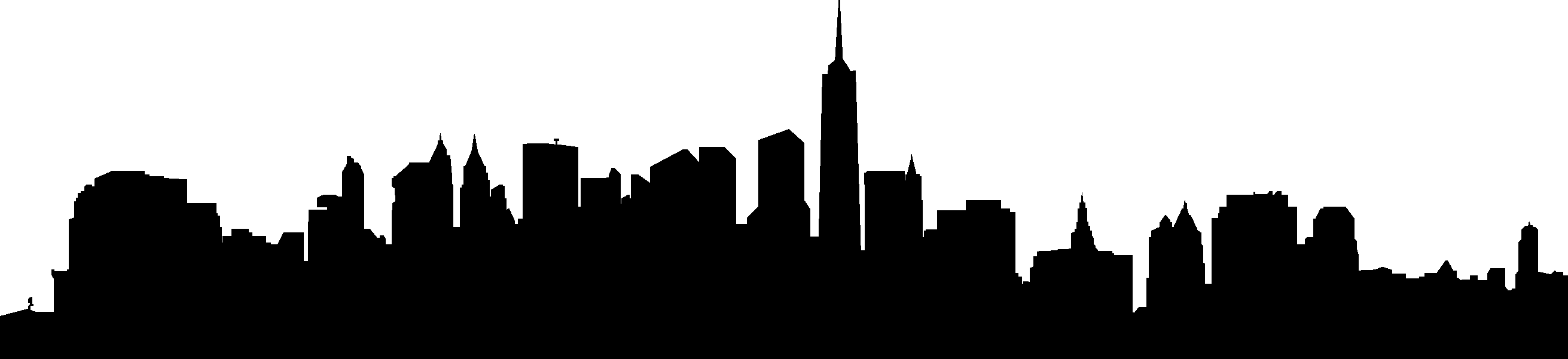 2622x601 City Skyline Silhouette 02 Vector Eps Free Download, Logo, Icons