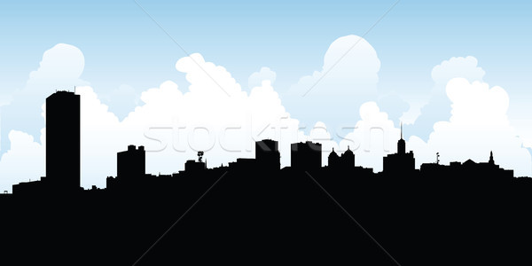 600x300 Buffalo City Skyline Vector Illustration Brett Lamb (Blamb