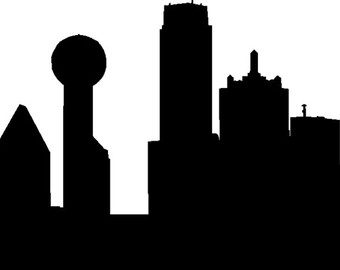 340x270 Dallas Skyline Paint Splatter Color Vector Illustration Royalty
