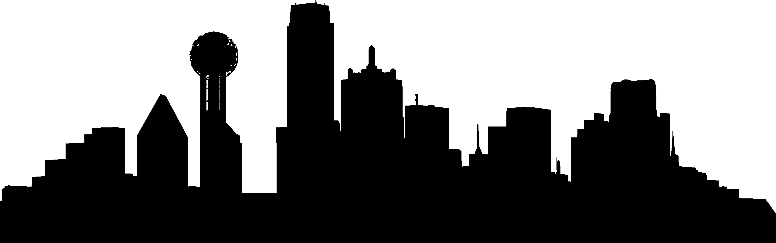 2556x801 City Skyline Silhouette 02 Vector Eps Free Download, Logo, Icons